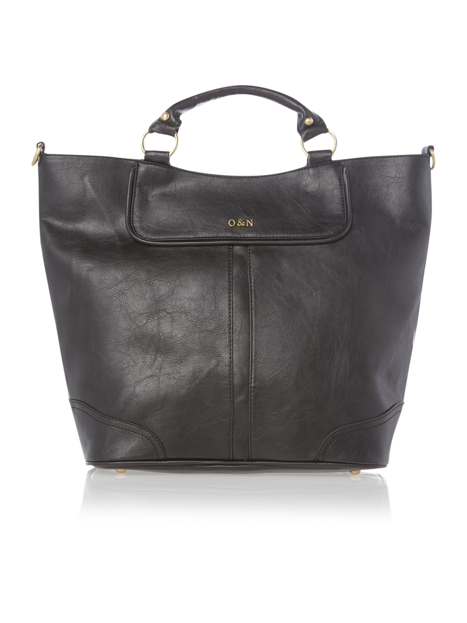 Gemma black large tote bag
