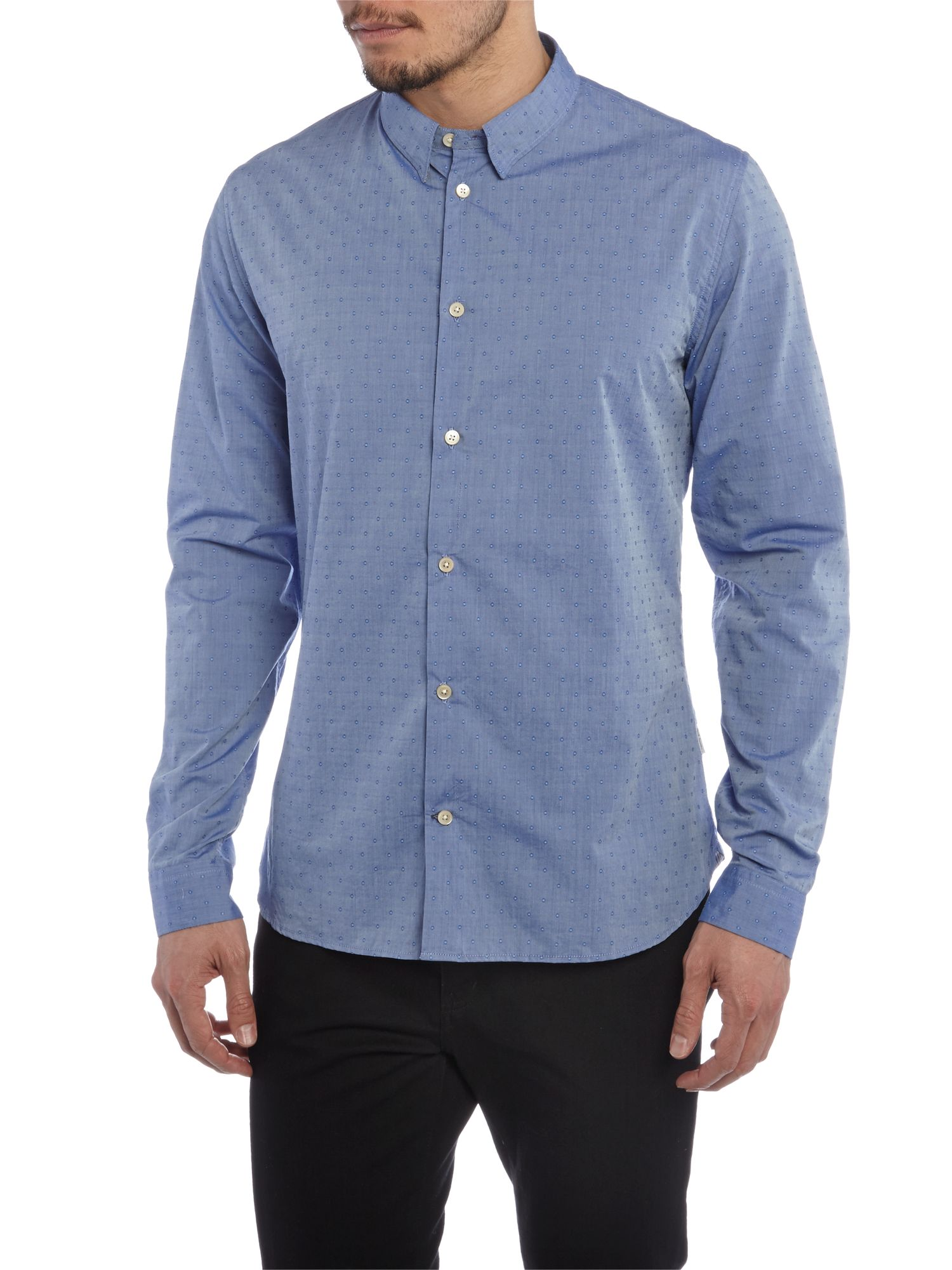 Slim long sleeve dobi shirt