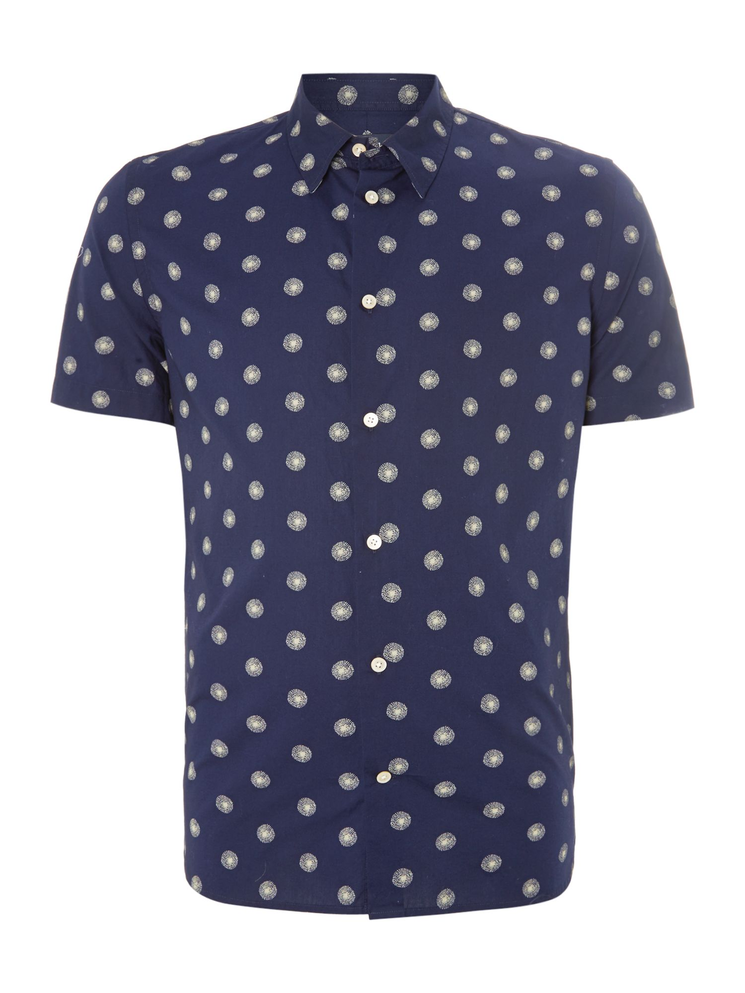 Short sleeve dandelion print shirt