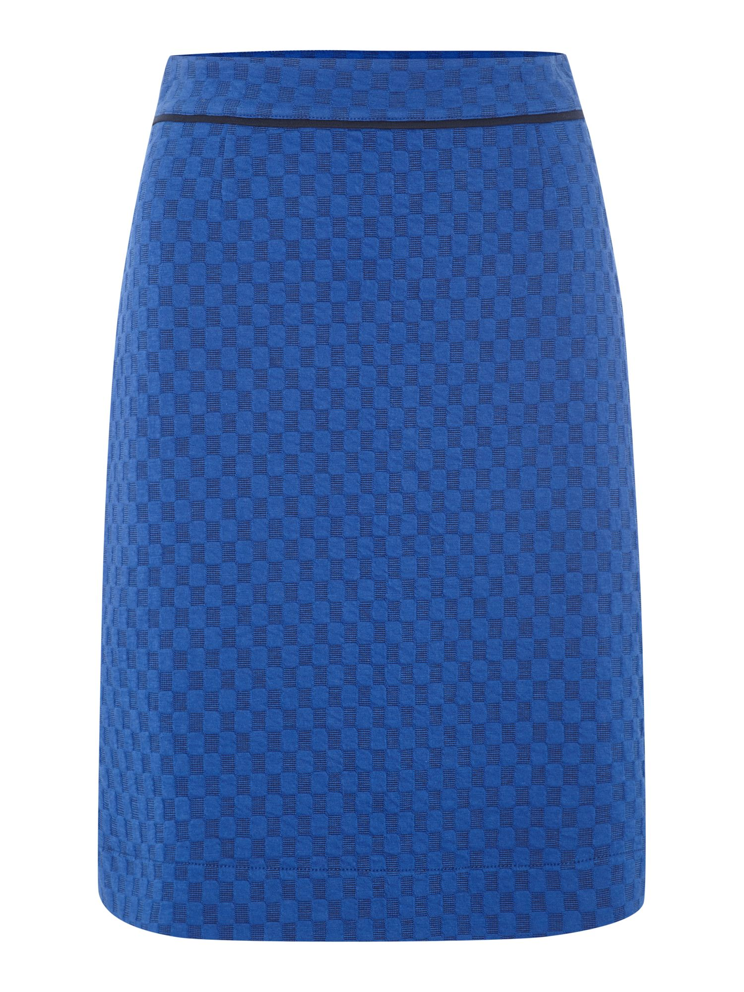 Skirt with square jacquard