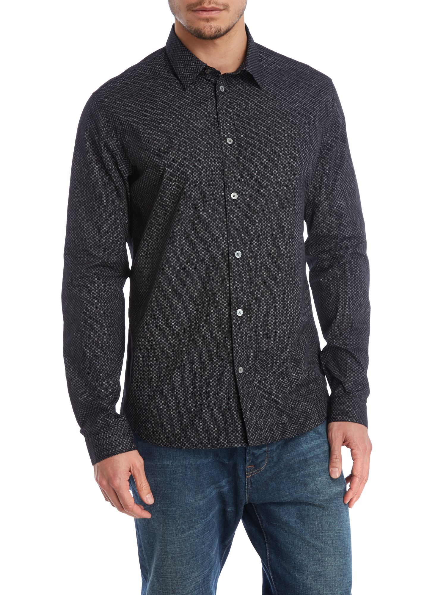 Long sleeve pin dot shirt
