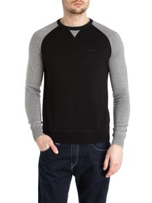 Colour block crew neck knitwear