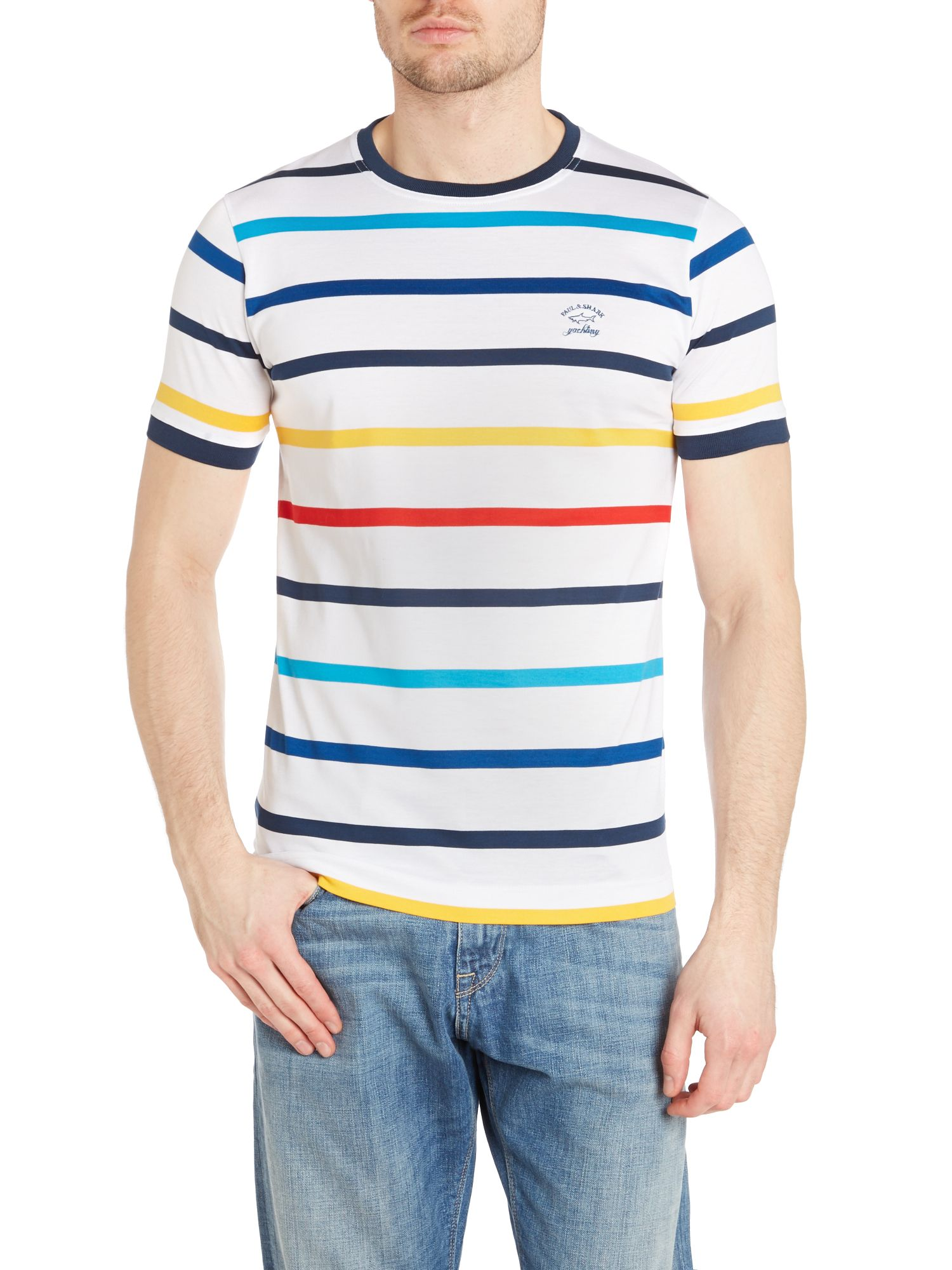 Striped crew neck t shirt