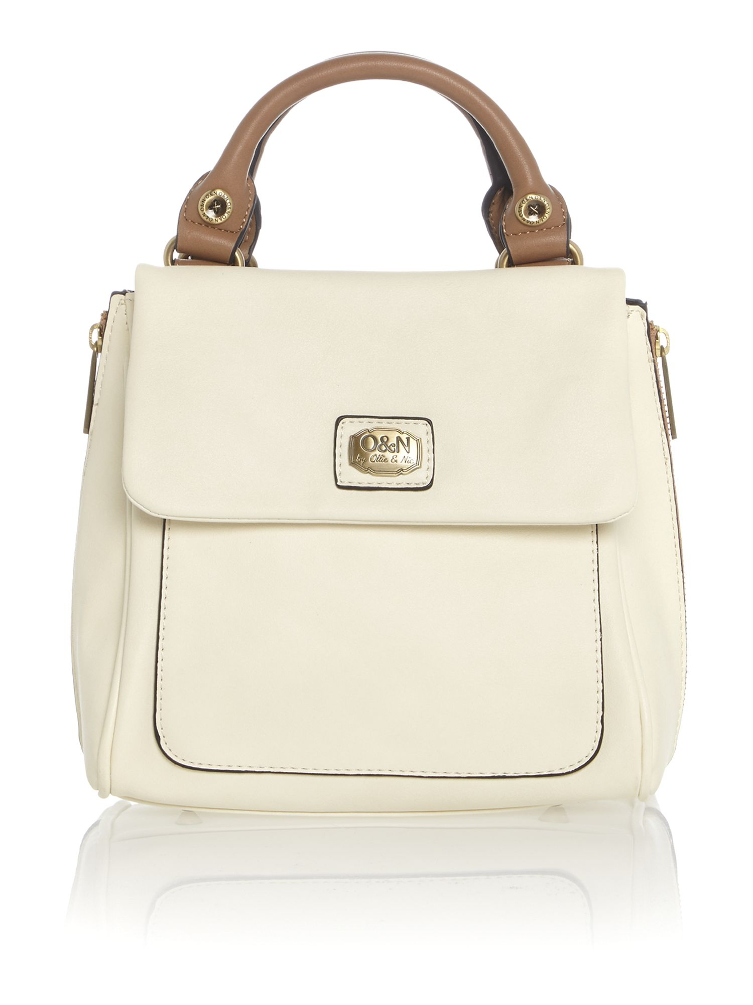 Louisa white mini crossbody bag