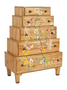 Living by Christiane Lemieux Plume stacked 5 drawer chest