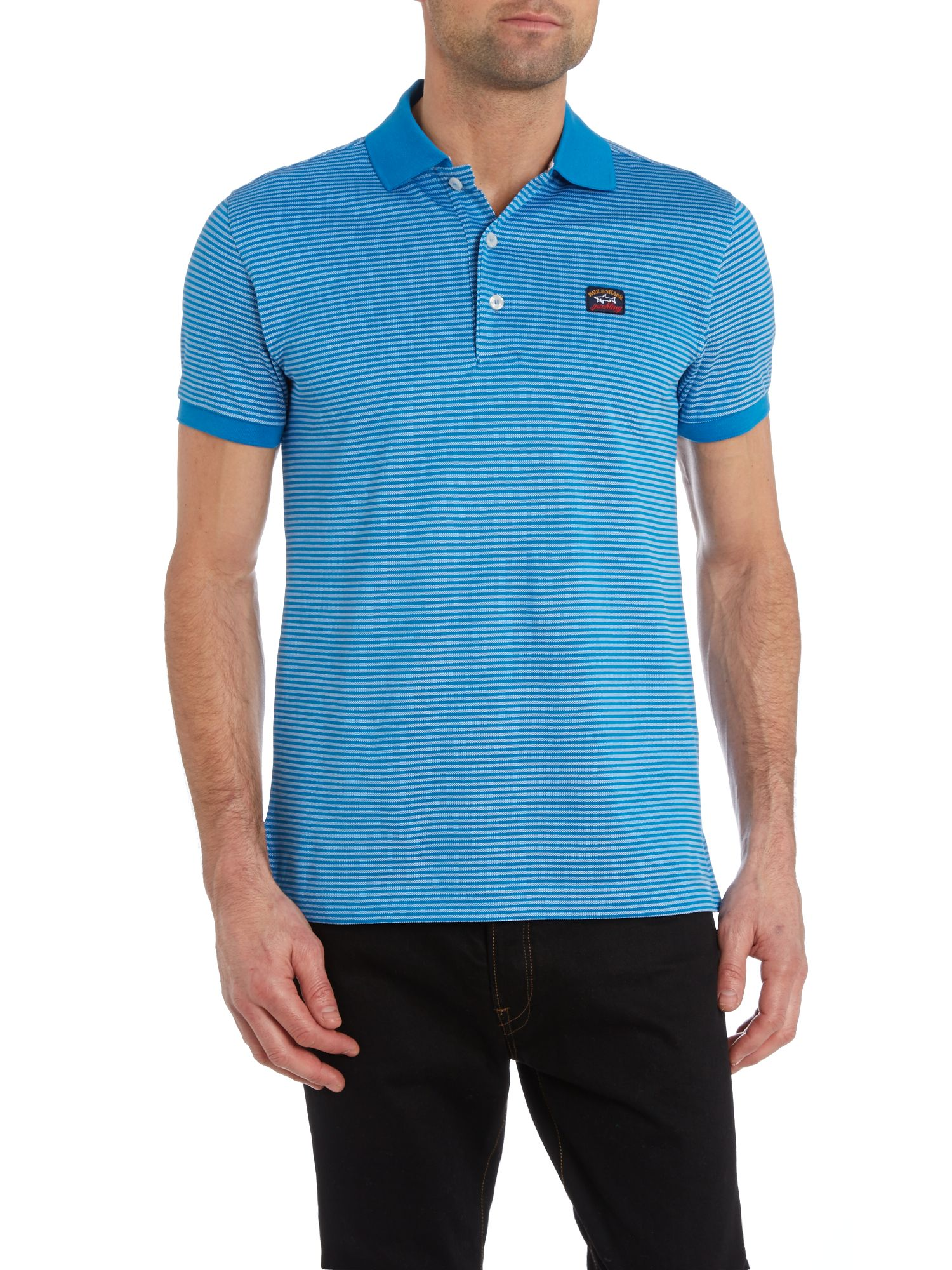 Fine stripe polo