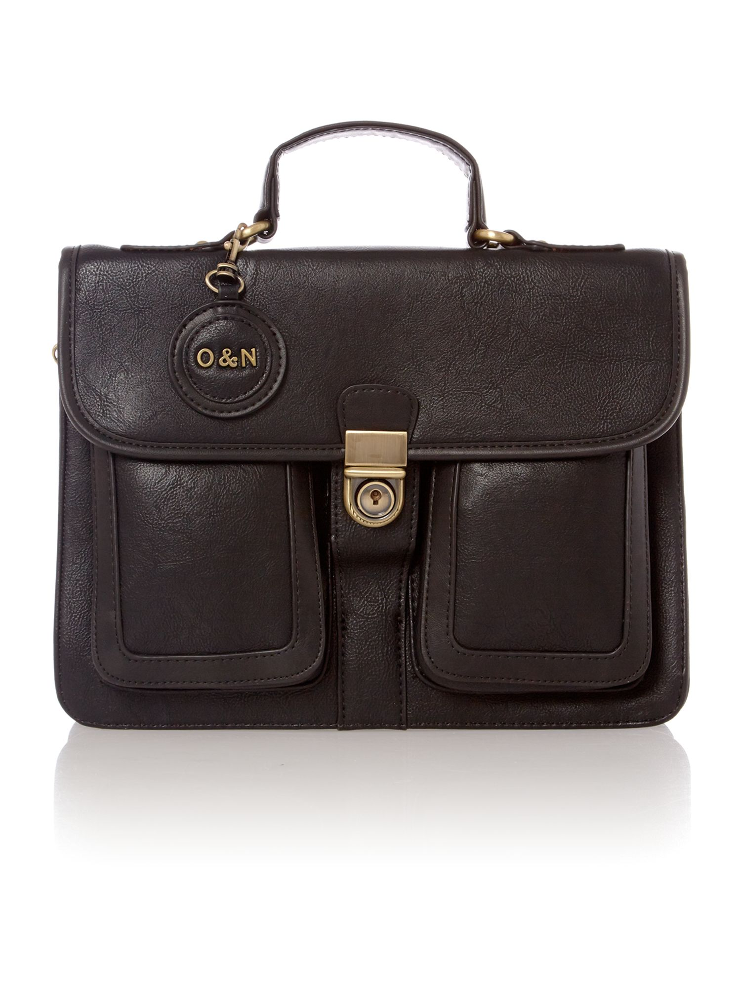 Lara black satchel bag