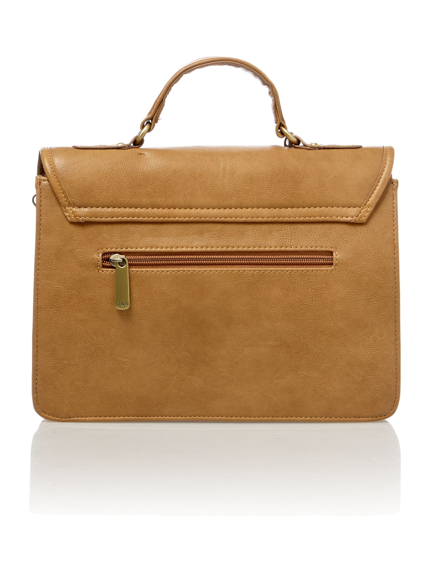 Lara tan satchel bag