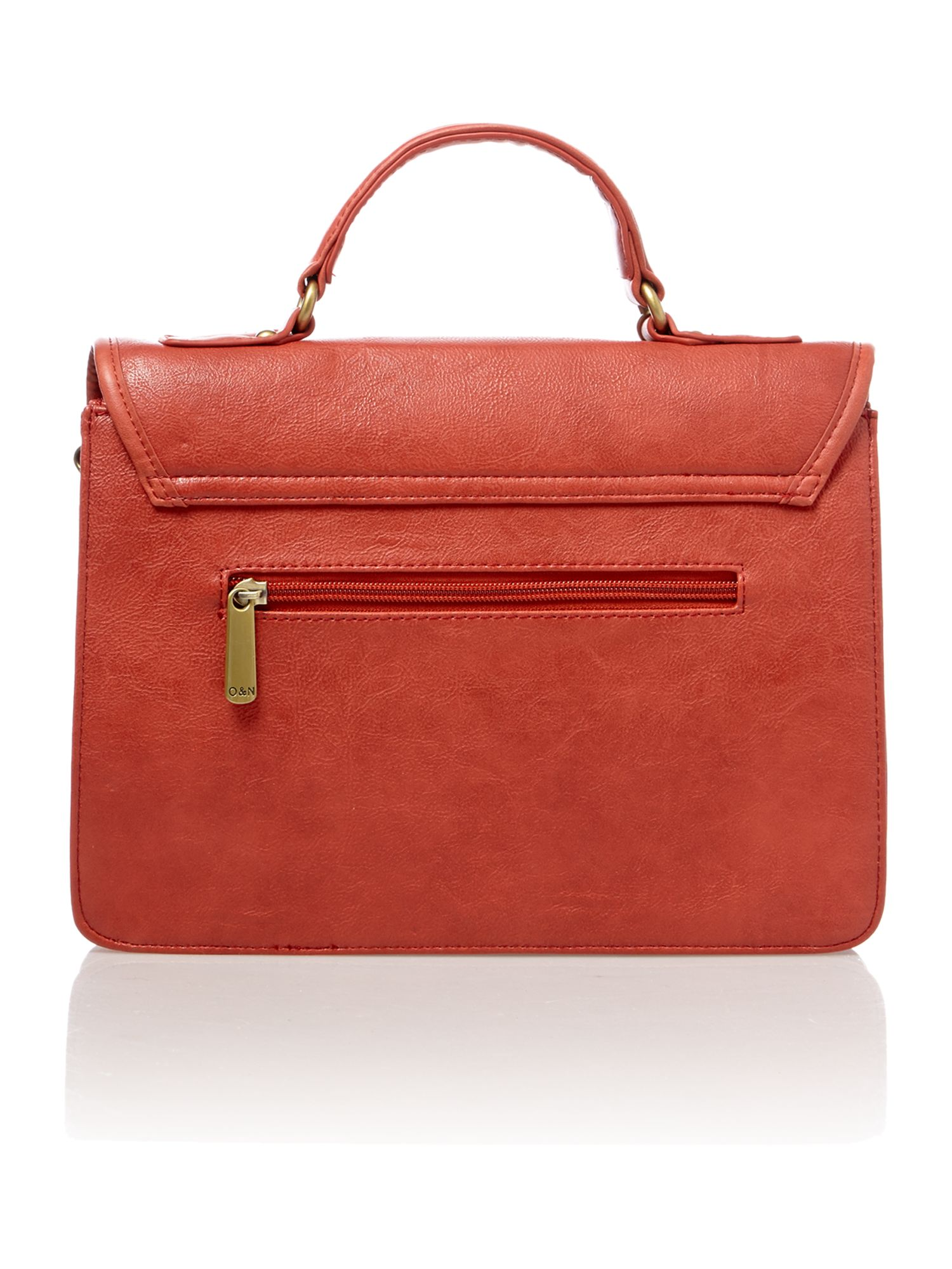 Lara red satchel bag