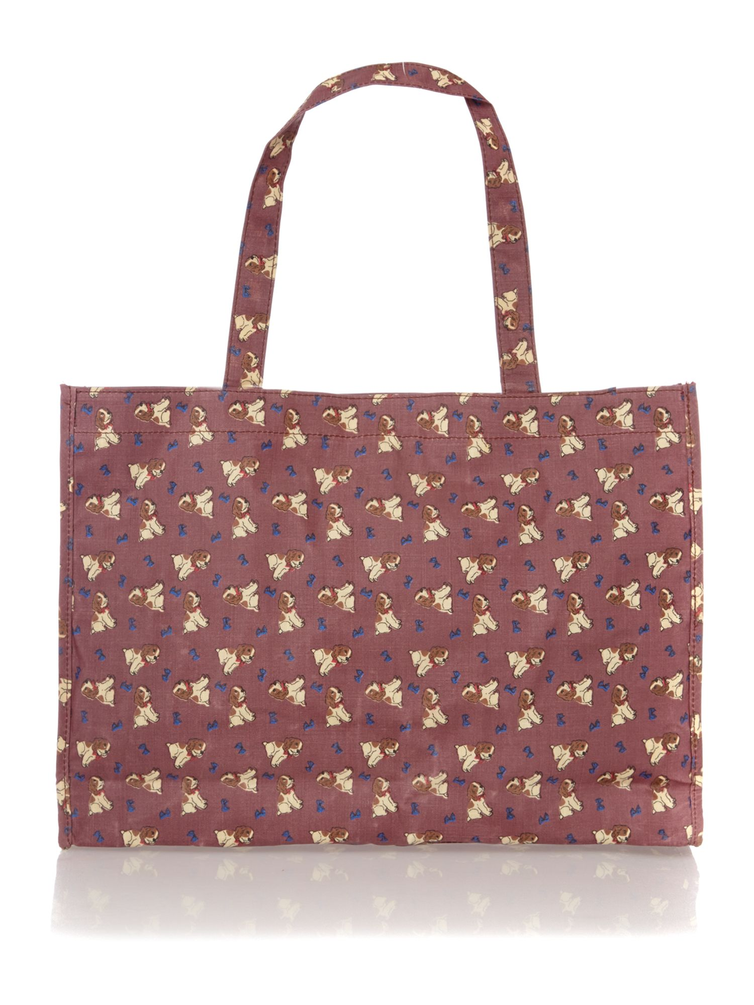 Yogi purple tote bag