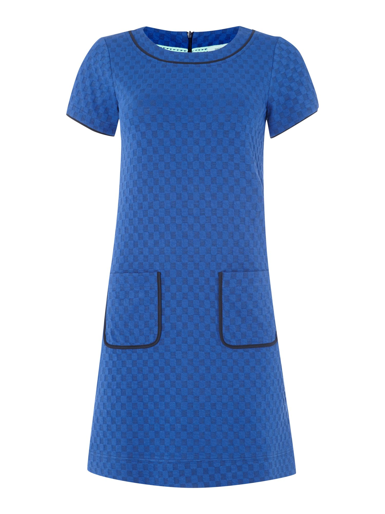 Dress with square jacquard