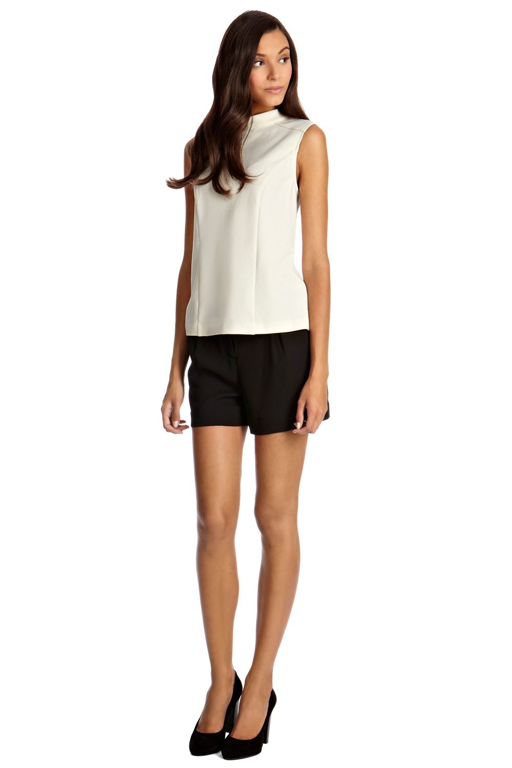 High neck ponte top