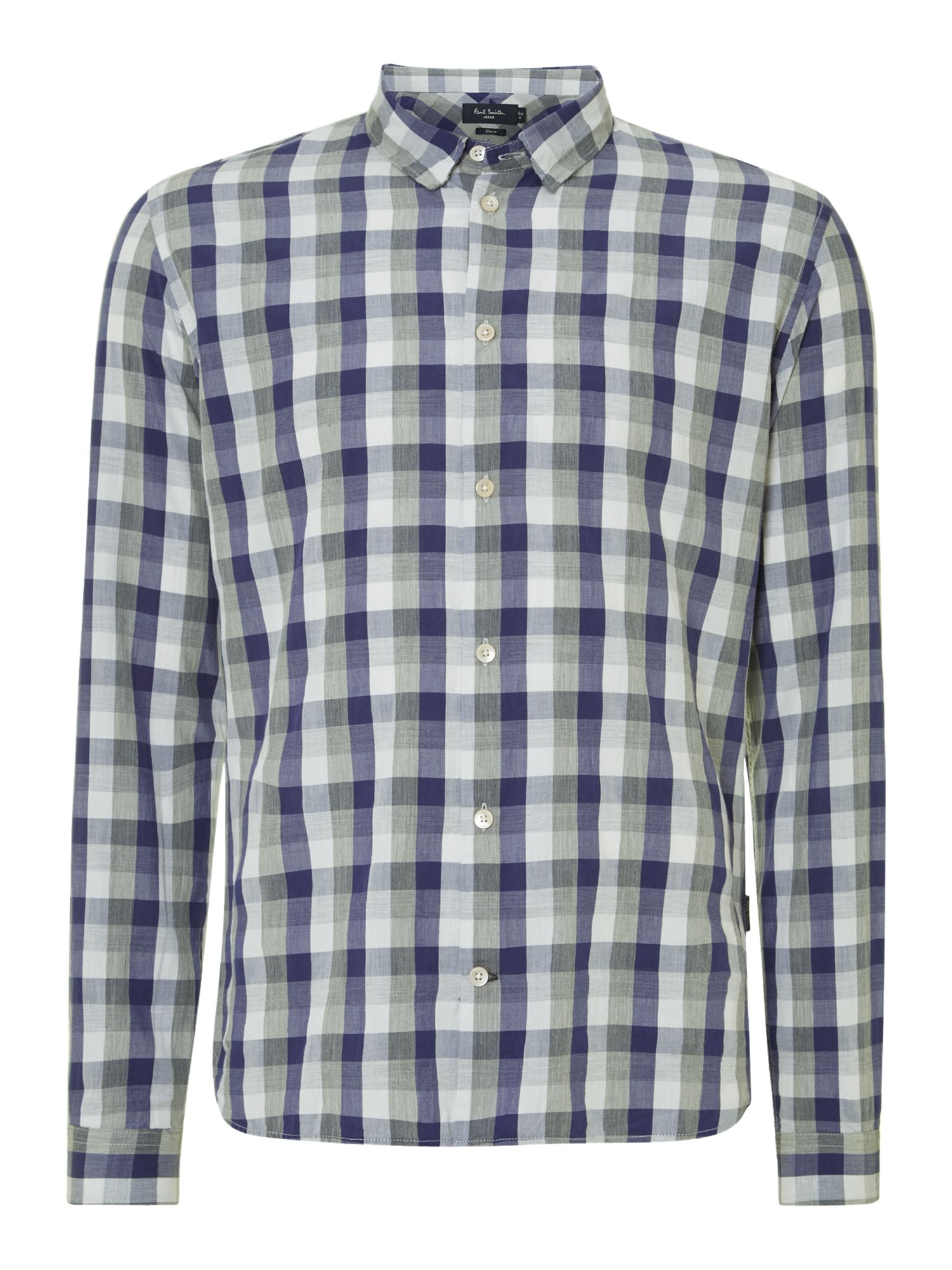 Long sleeve marl check shirt