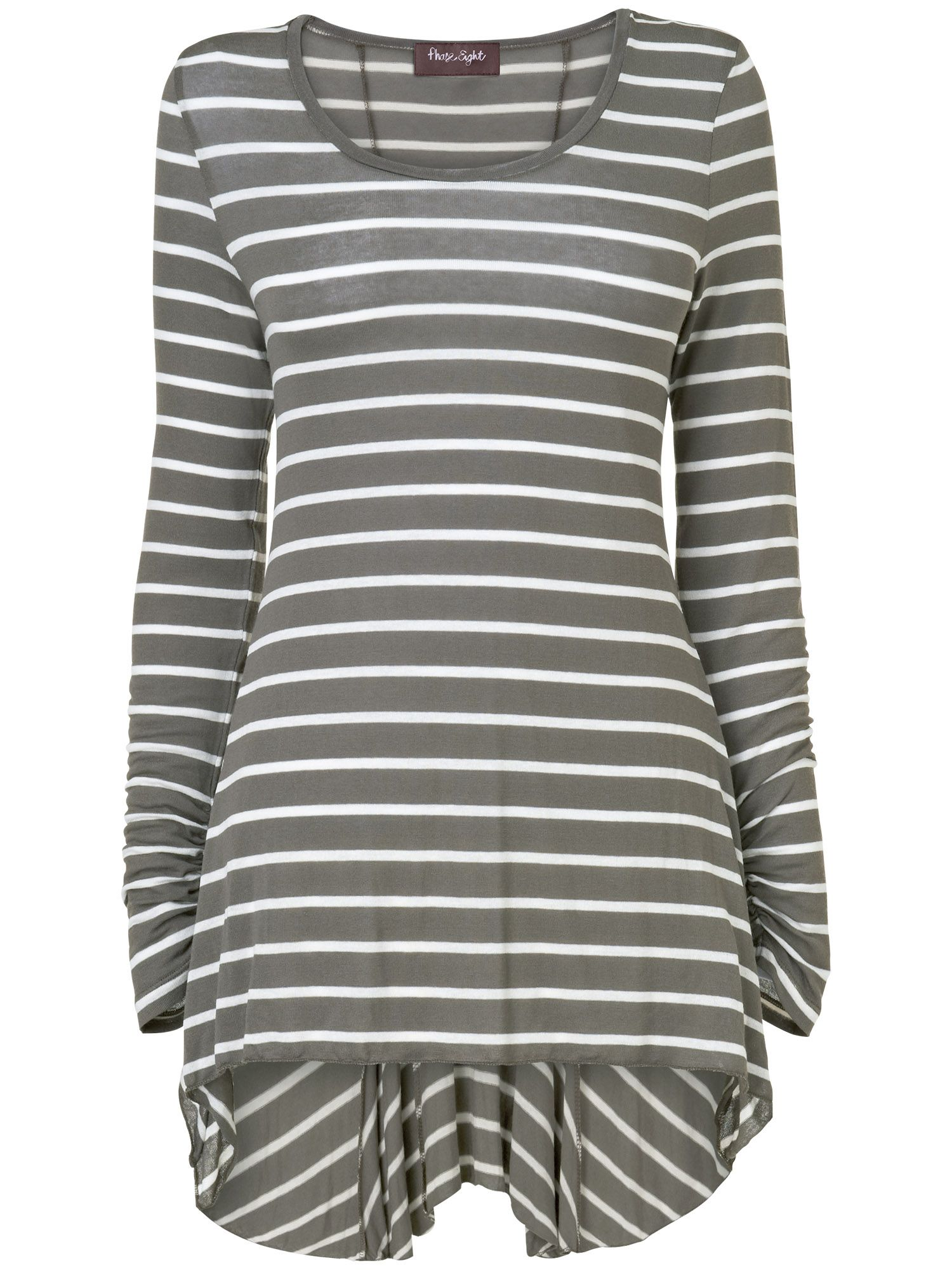 Stripe tegan godet top
