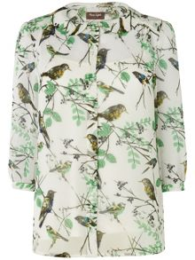 Emmie bird blouse