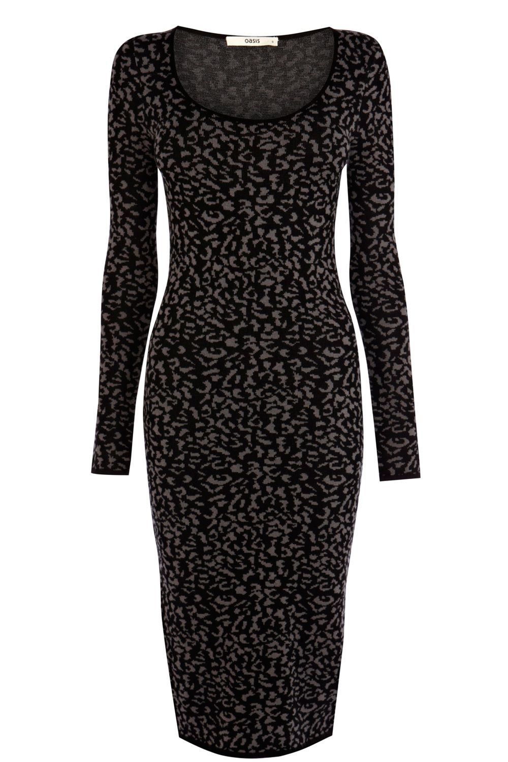 Animal jacquard bodycon dress