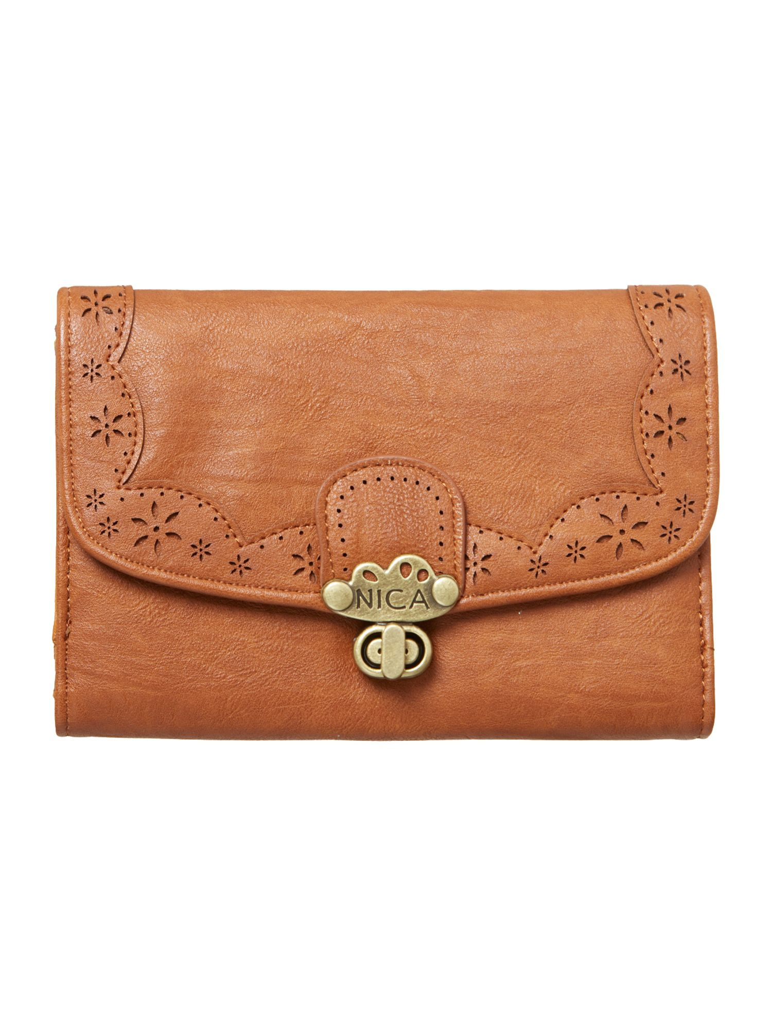 Alicia tan medium flap over purse