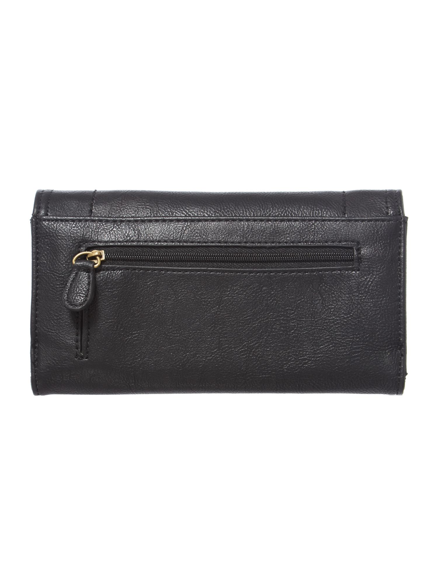 Judy black large flap over purse