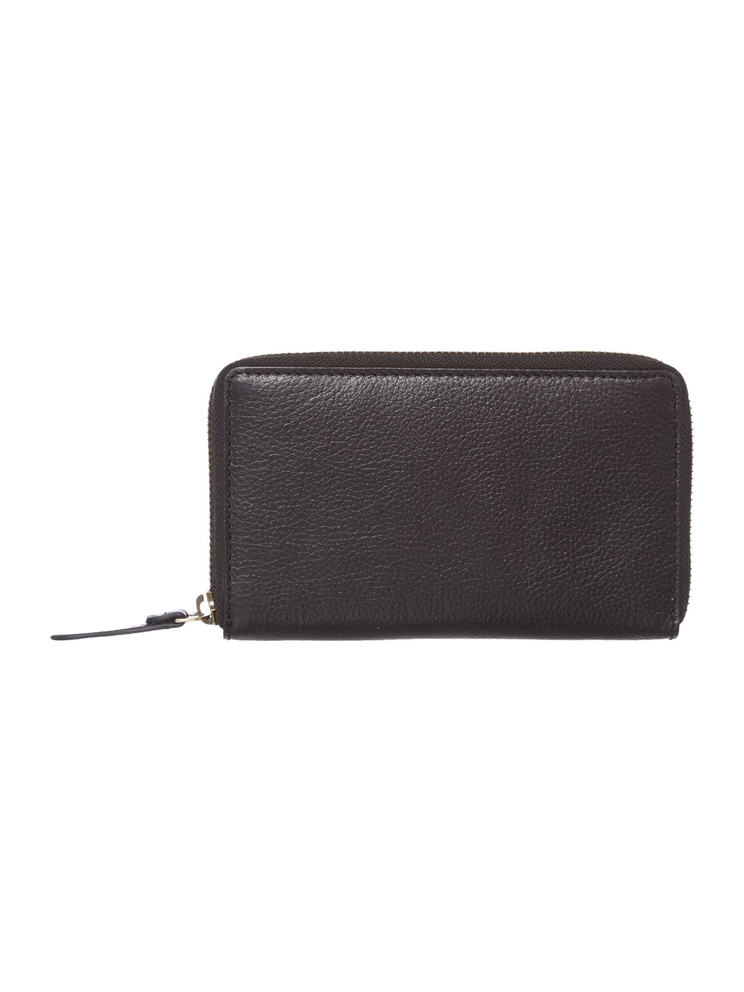 Nikki black large zip around purse