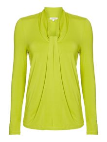 Essential 3/4 sleeve knot detail jersey tunic