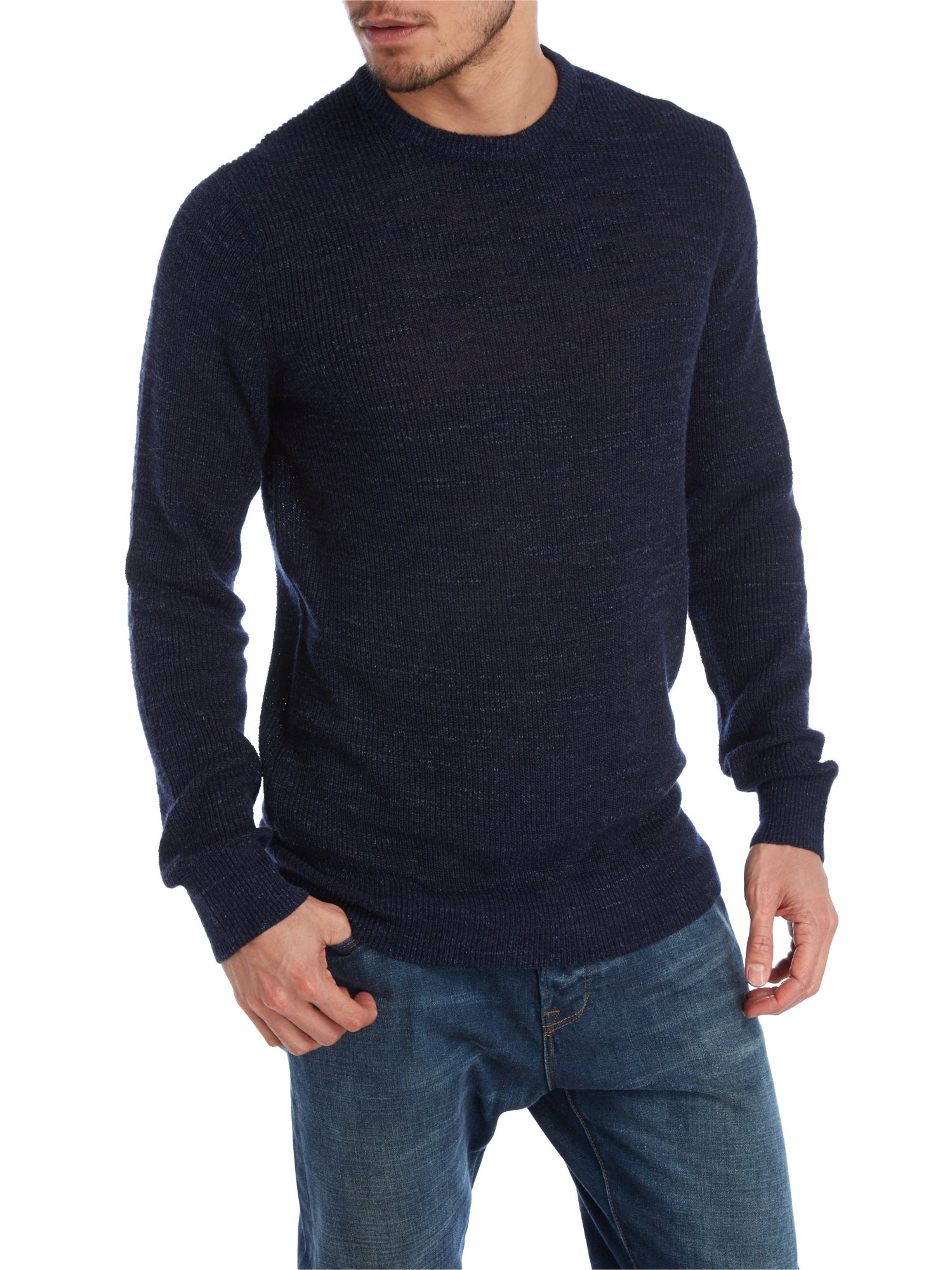 Loose crew neck knitwear