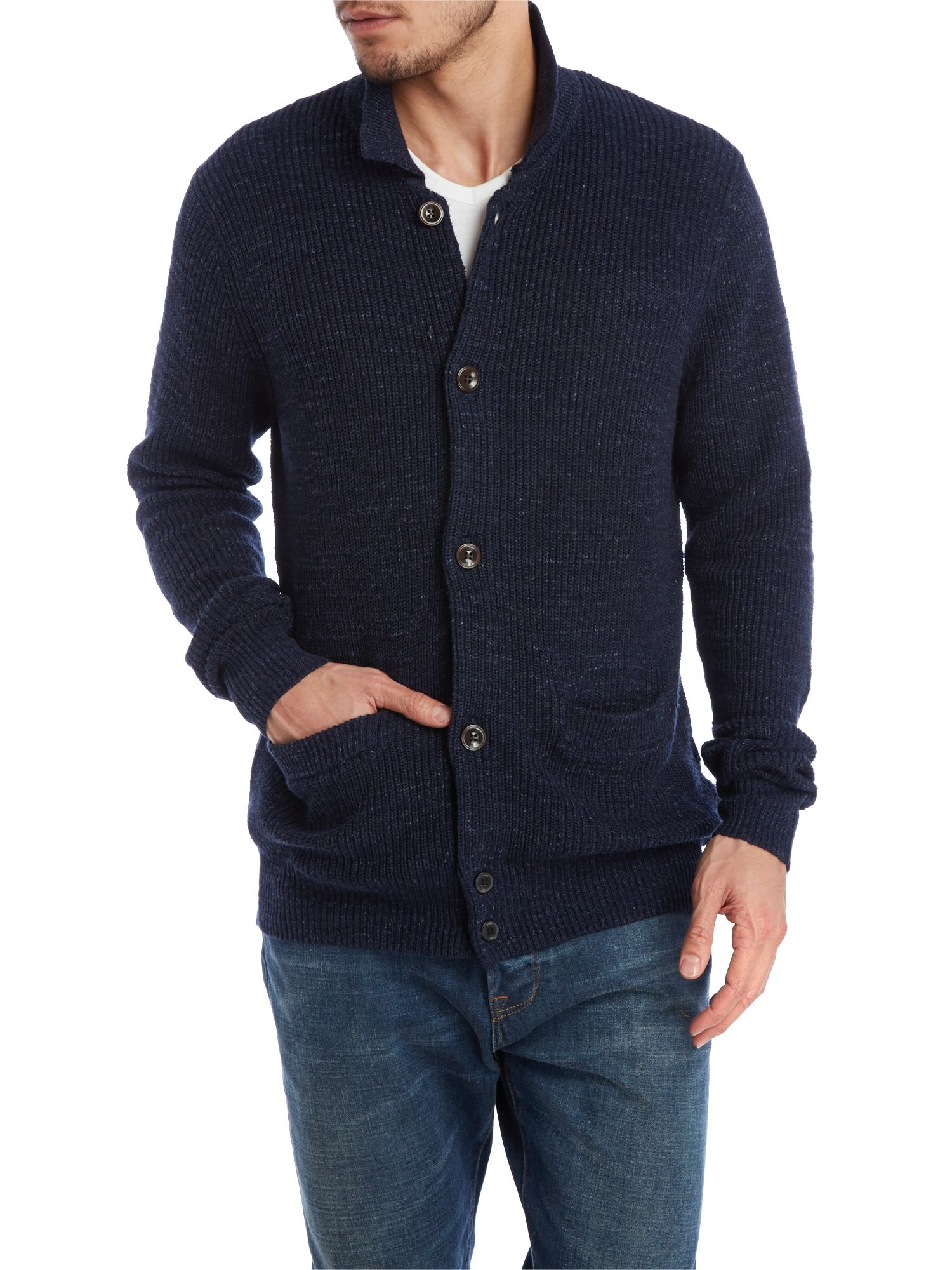 Loose button through cardigan