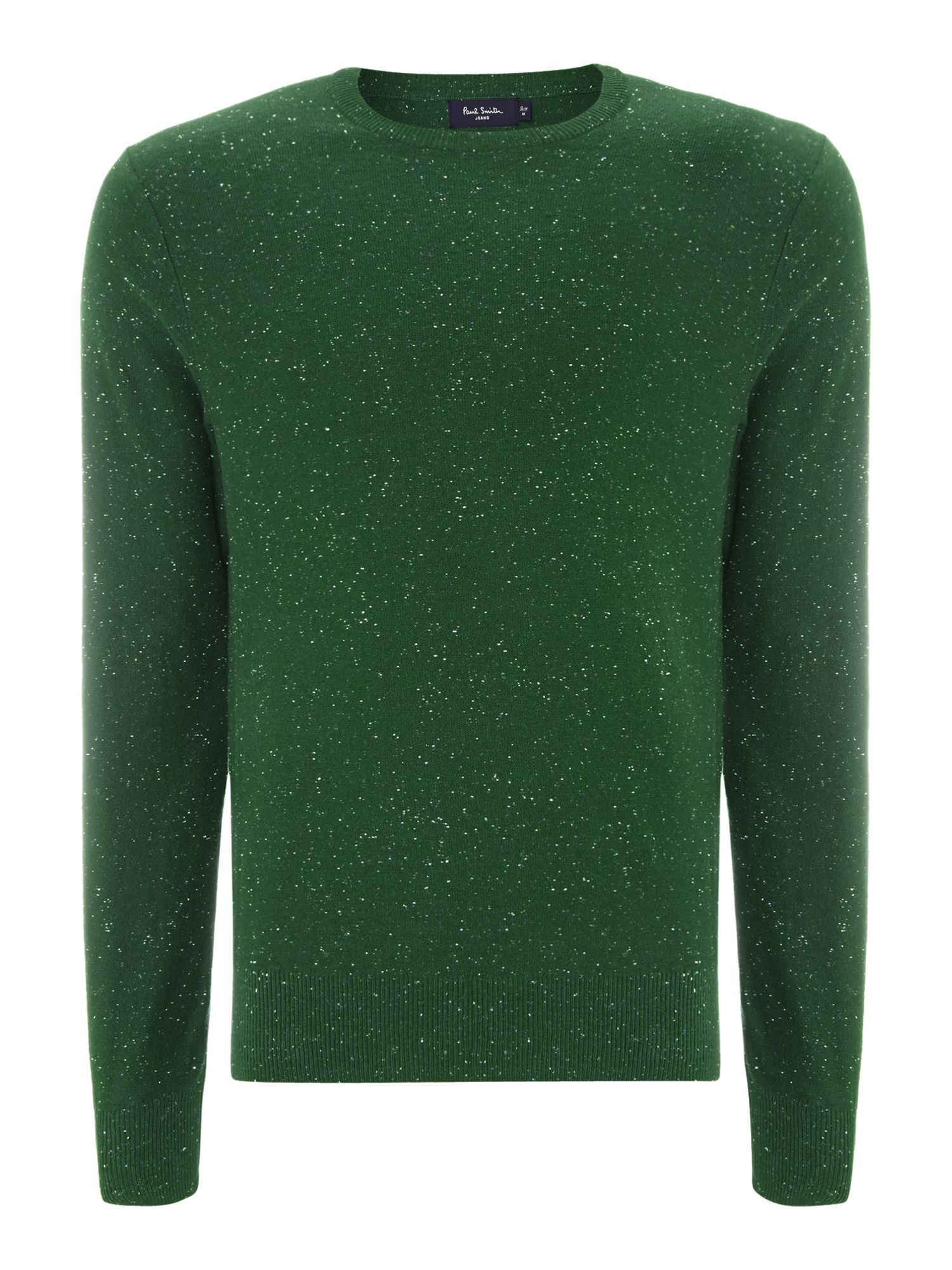 Speckled crew neck knitwear
