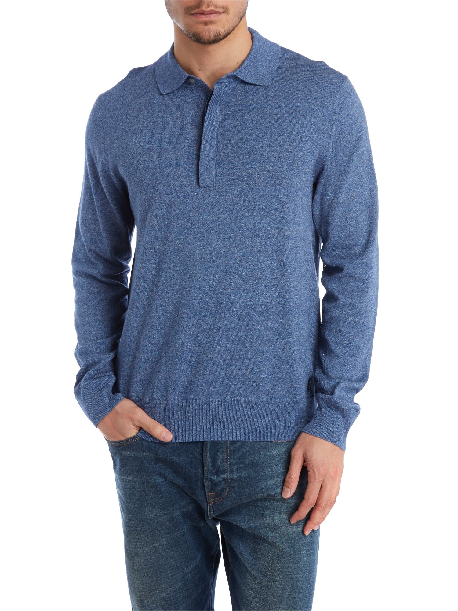 Marl polo knit