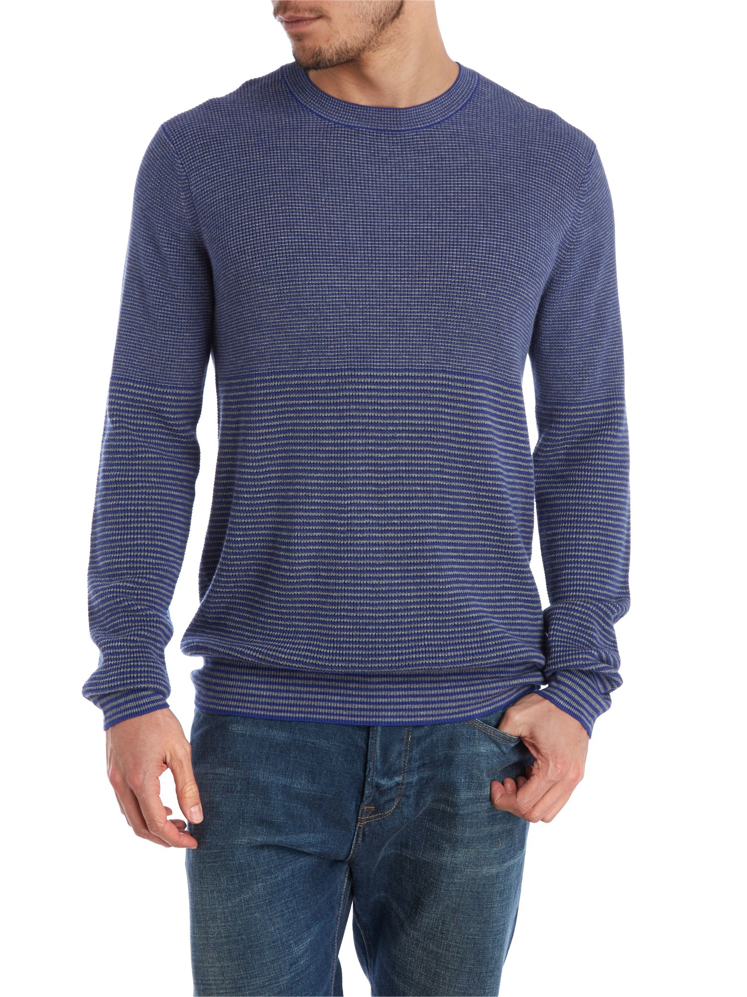 Two tone stripe knit