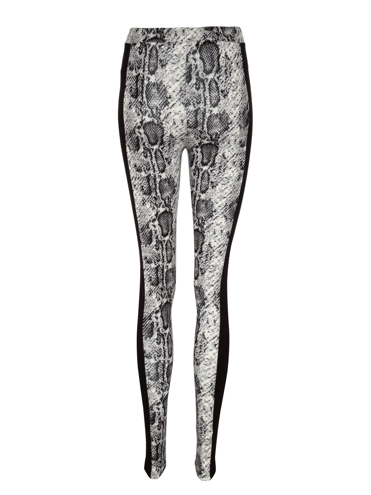 Snake print panel leggings