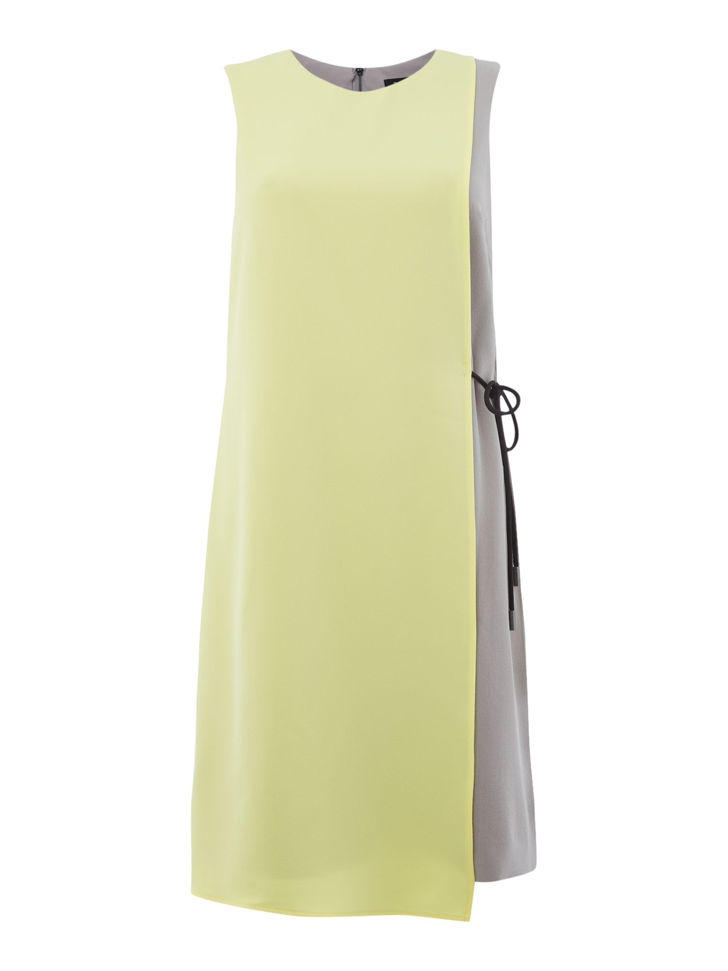 Tahari ASL Vibrant Colour Block Sleeveless Dress, Multi-Coloured