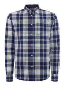 Kent madras check long sleeved shirt