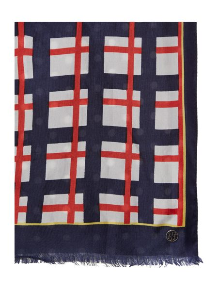 Tommy Hilfiger Avada double-sided silk and modal long scarf