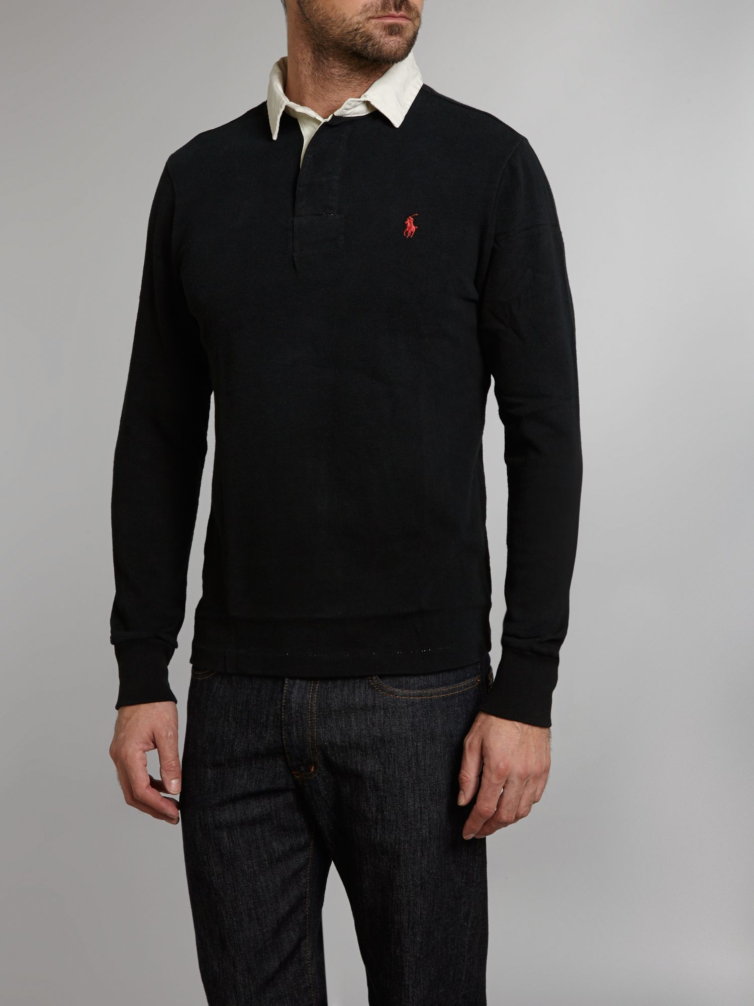 Vintage slim fit rugby top