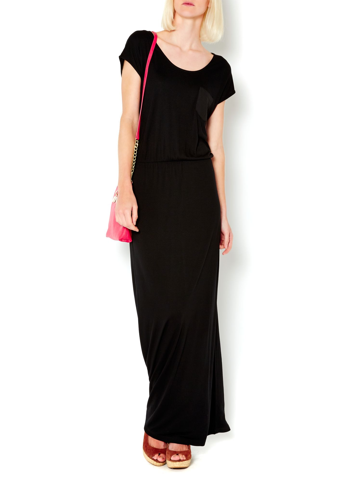 Woven pocket maxi dress
