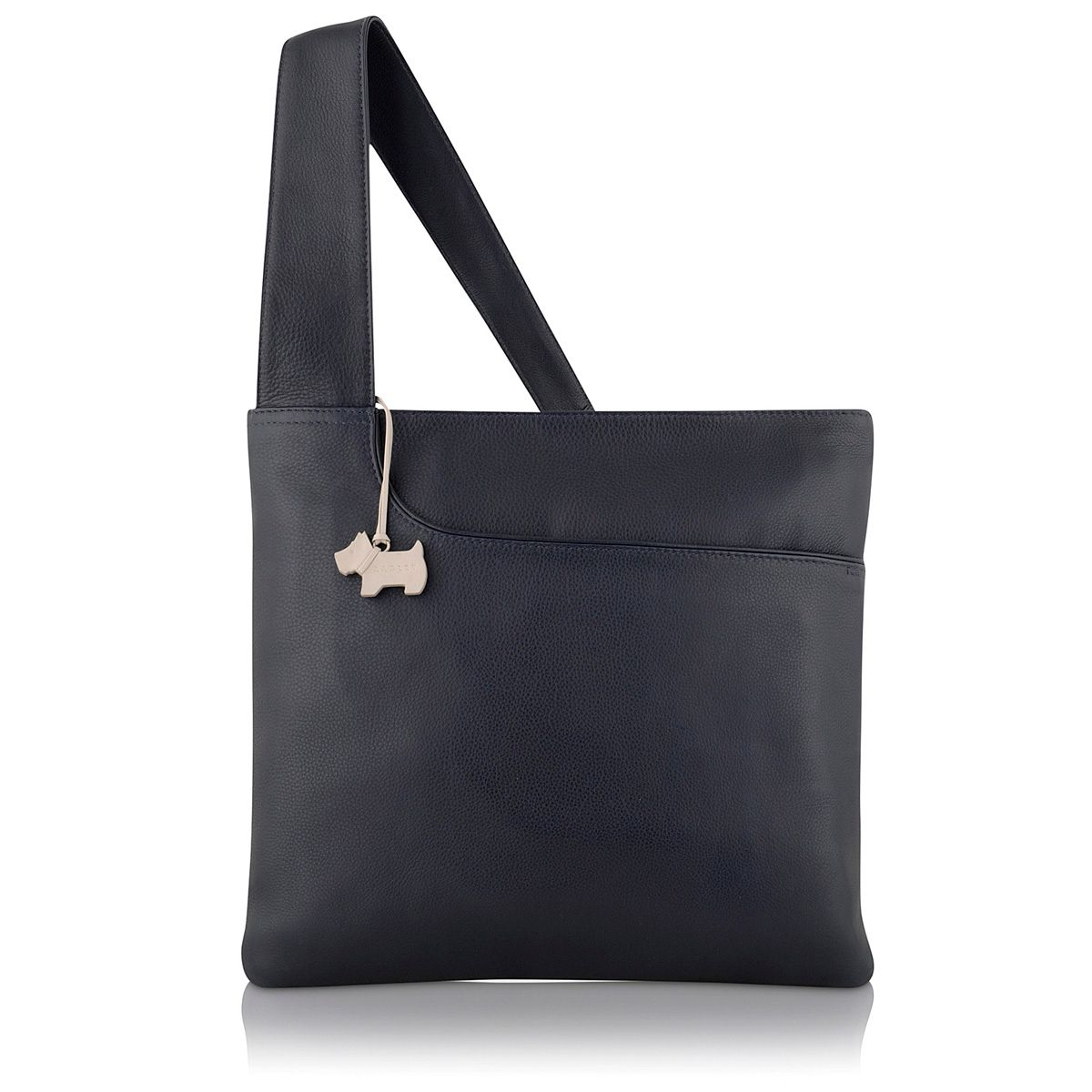 Navy large pocket bag