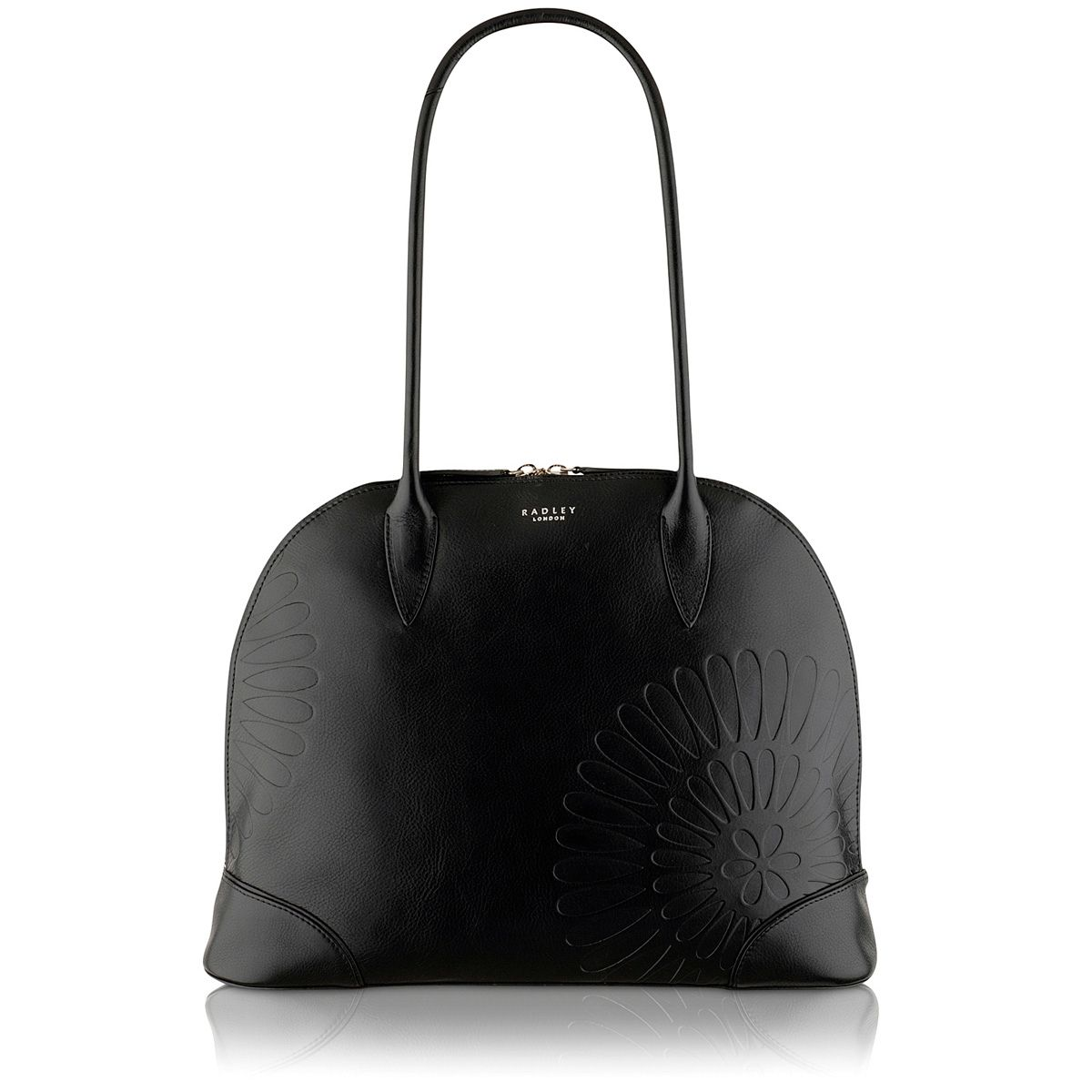 Finch black medium shoulder bag