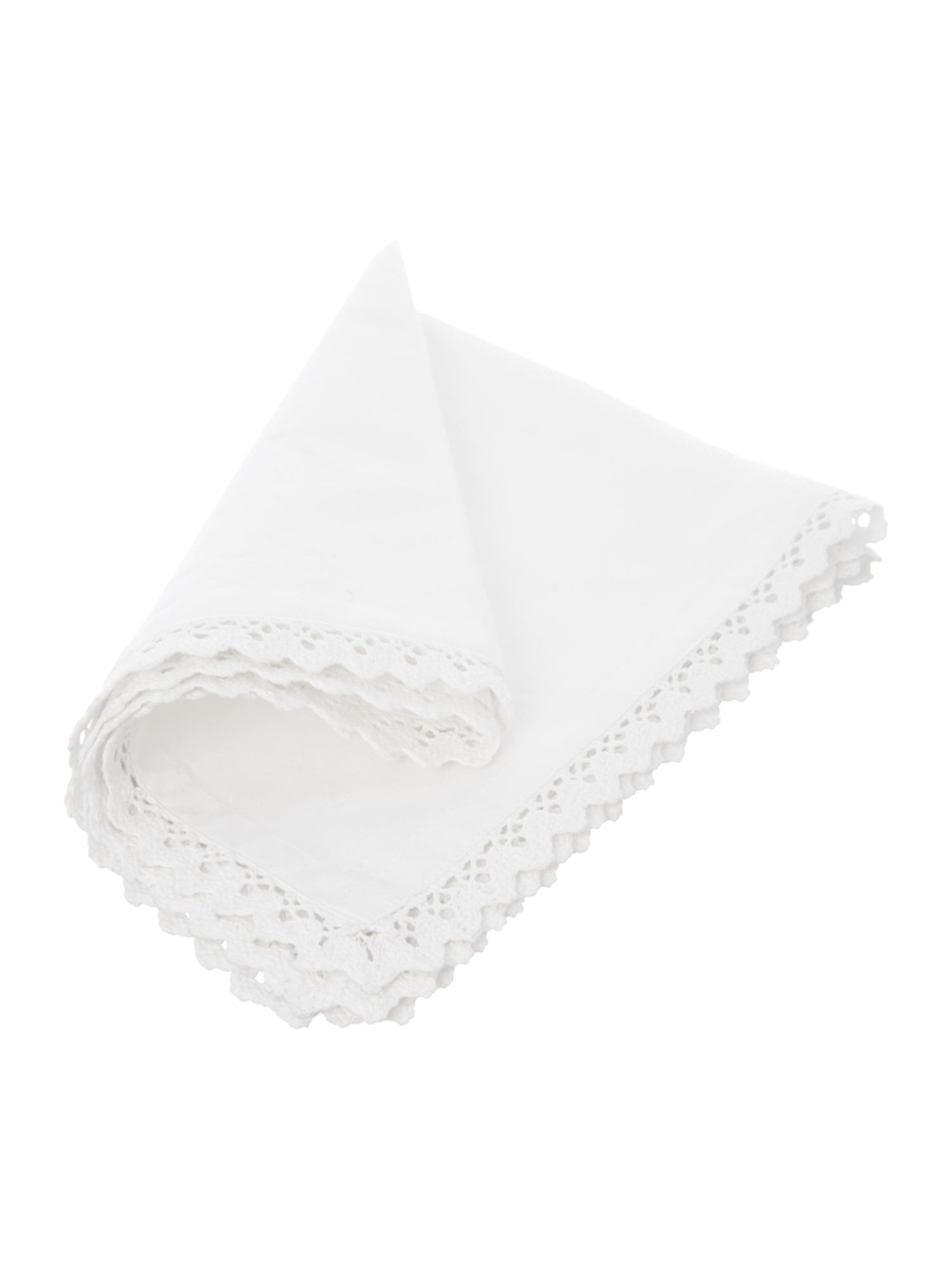 White Lace napkin set of 4