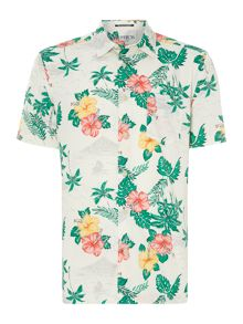 Aloha print short sleeve shirt