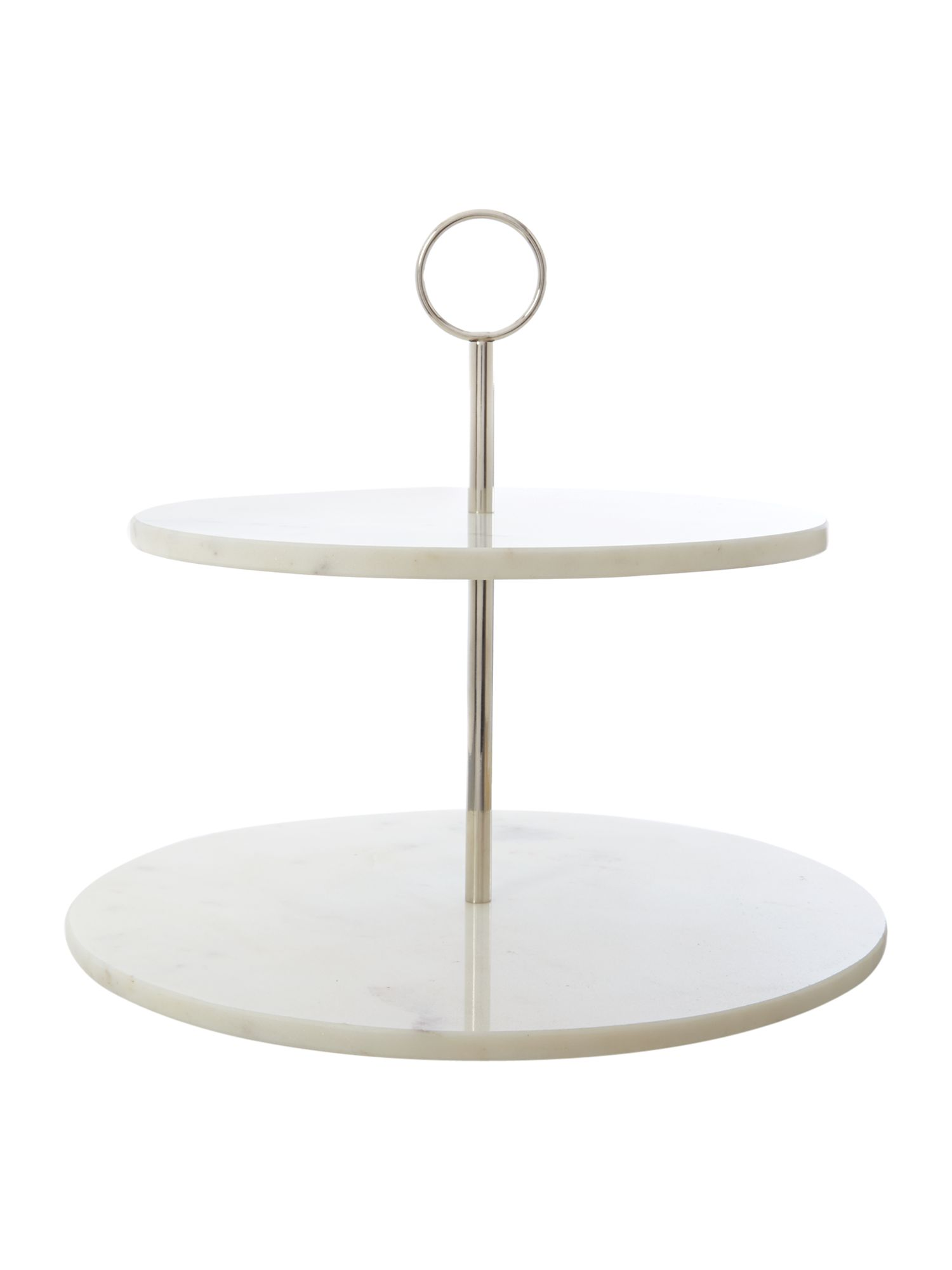 White marble cake stand