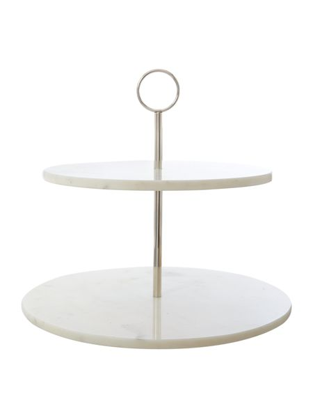 Casa Couture White marble cake stand
