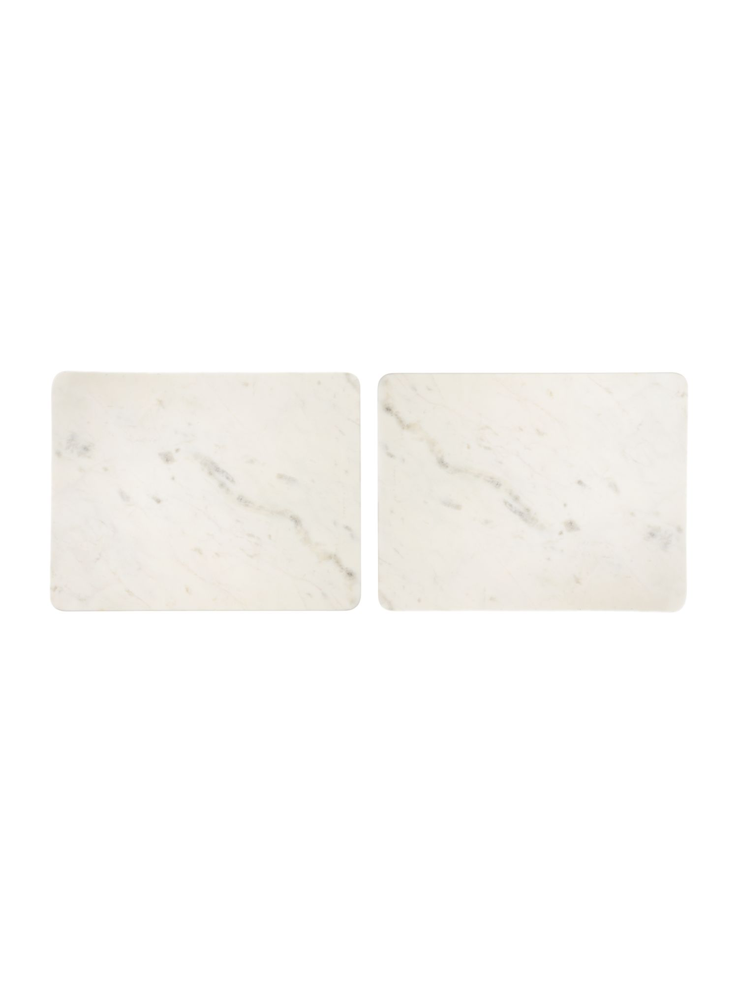 Casa white marble placemat set 2