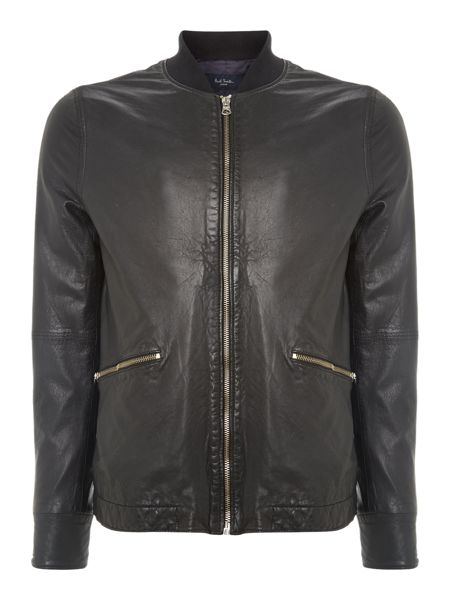 Paul Smith Jeans Two pocket leather jacket