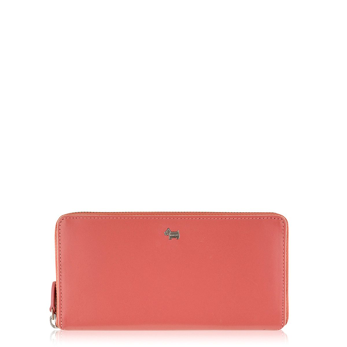 Blair large coral zip around purse