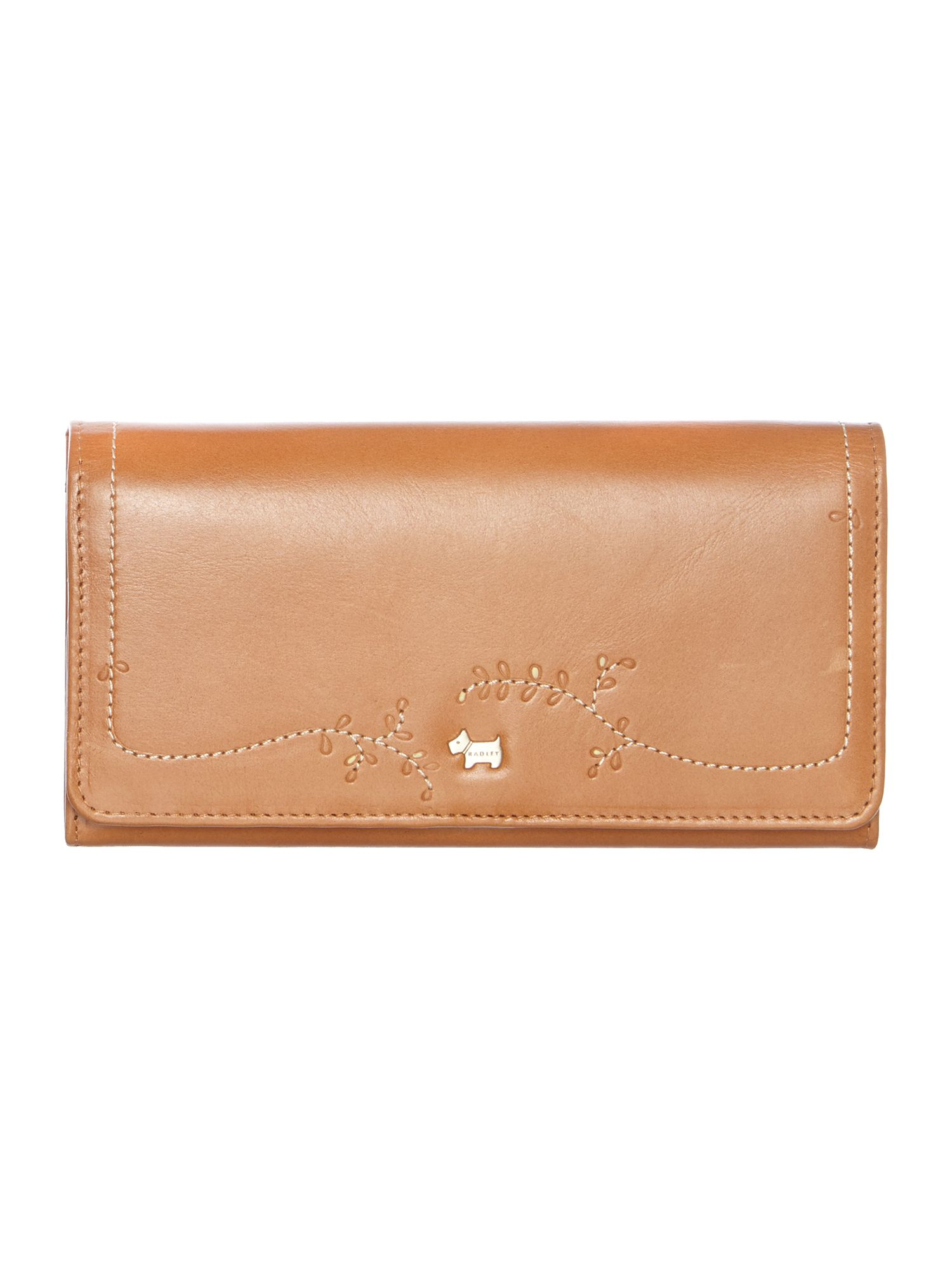 Little Laurels large tan flap over purse