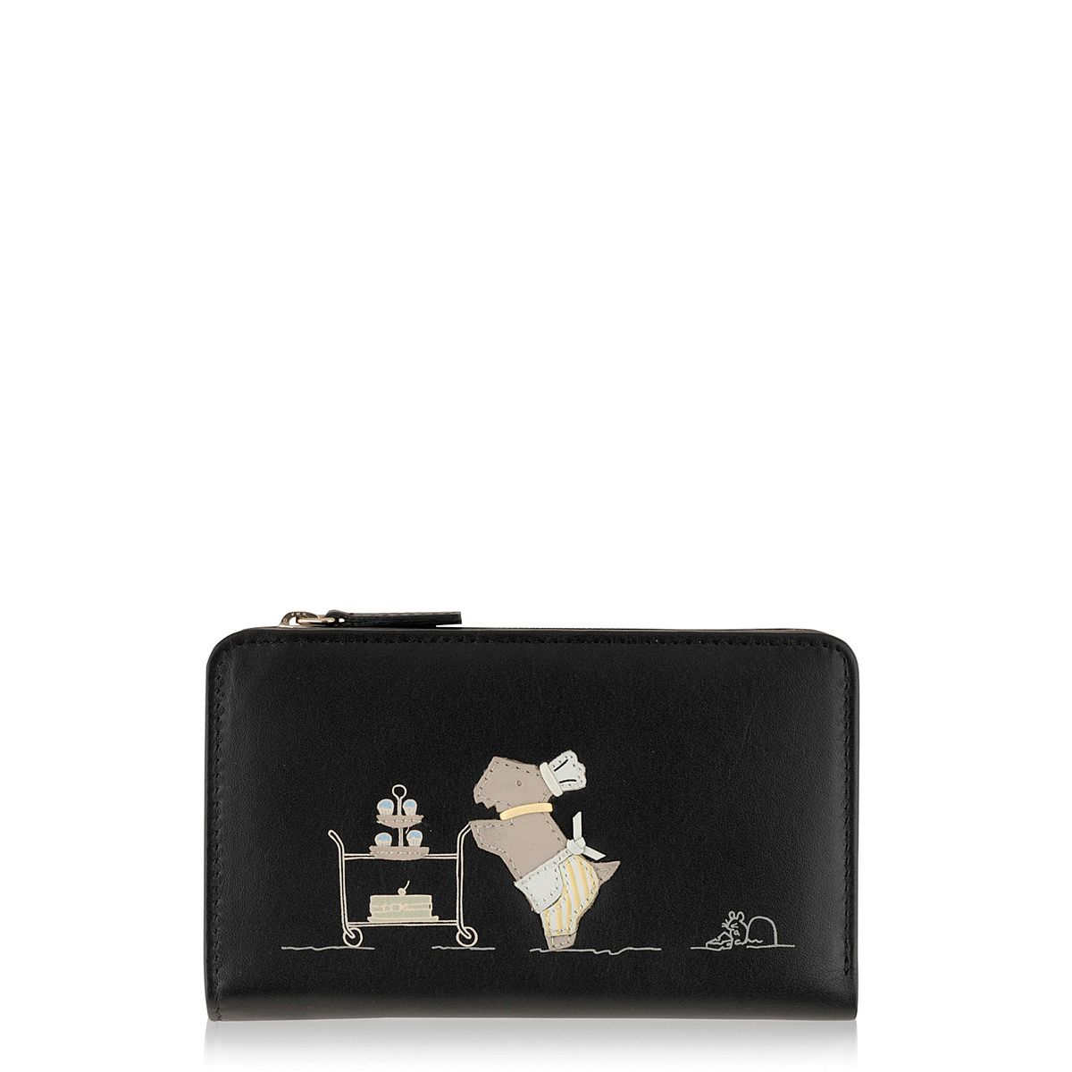 Patisserie Raderlie medium black zip around purse