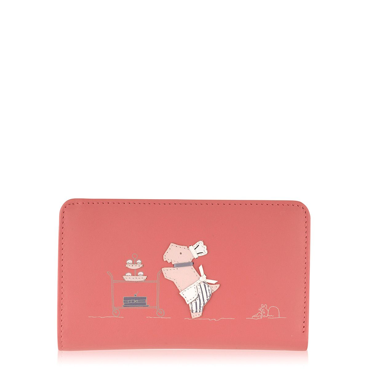 Patisserie Raderlie medium pink zip around purse