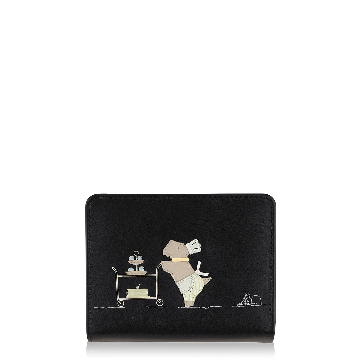 Patisserie Raderlie medium black flapover purse
