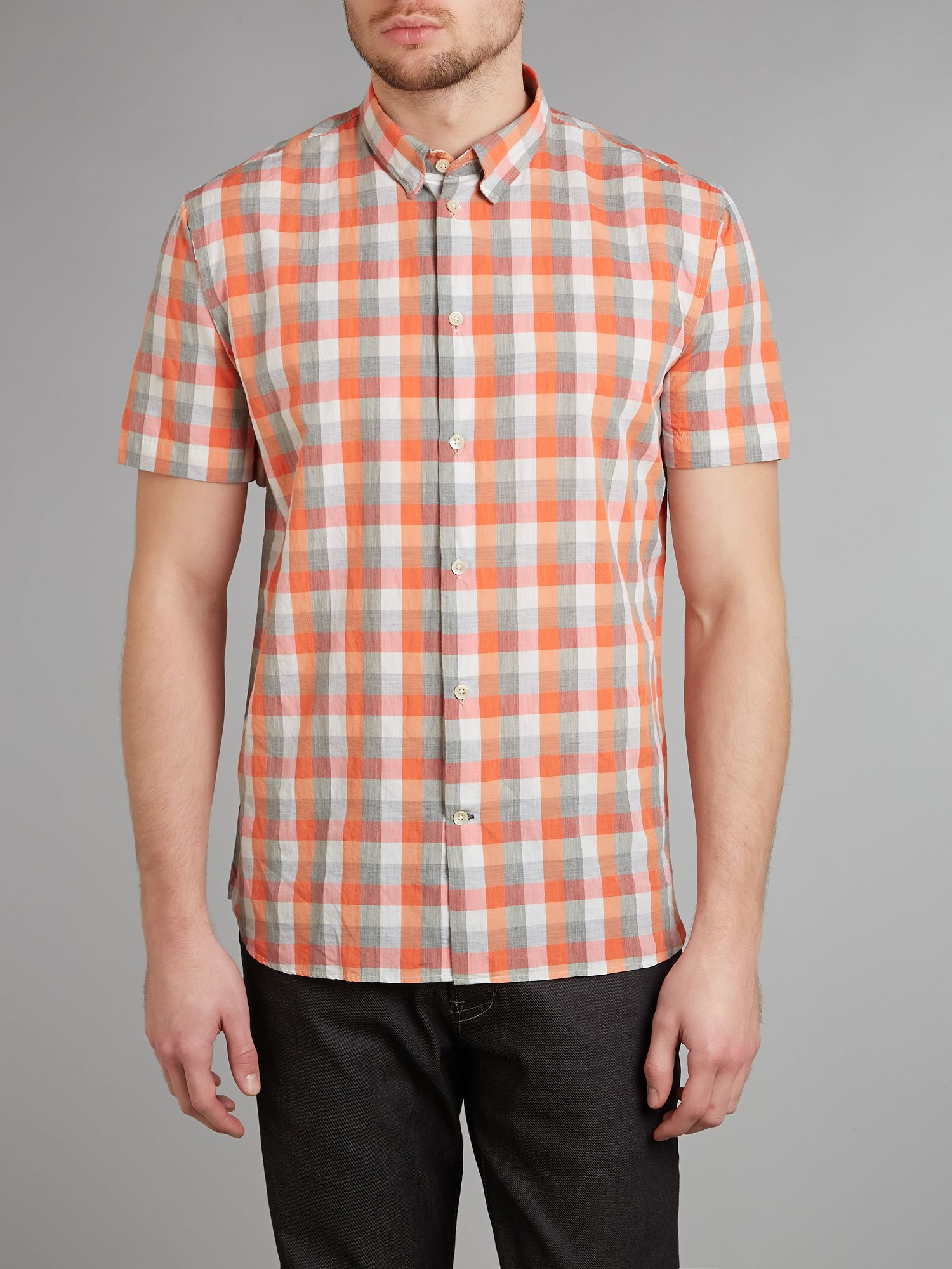 Short sleeve marl check shirt