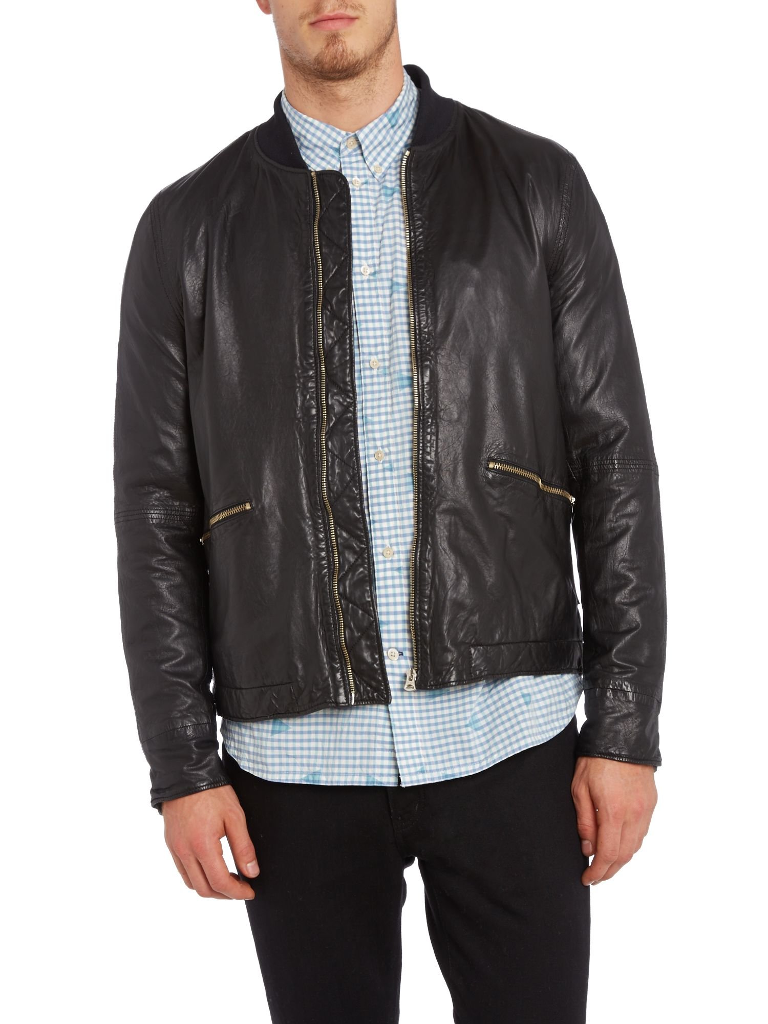 Two pocket leather jacket